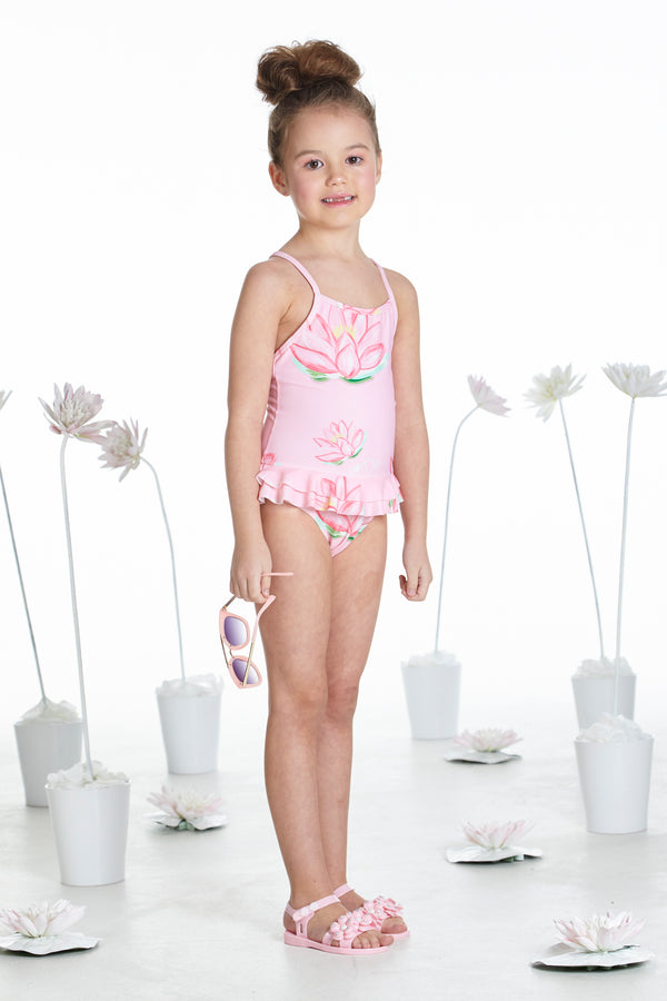 SS19 A Dee Girls Bailey Pink Waterlily Swim Costume