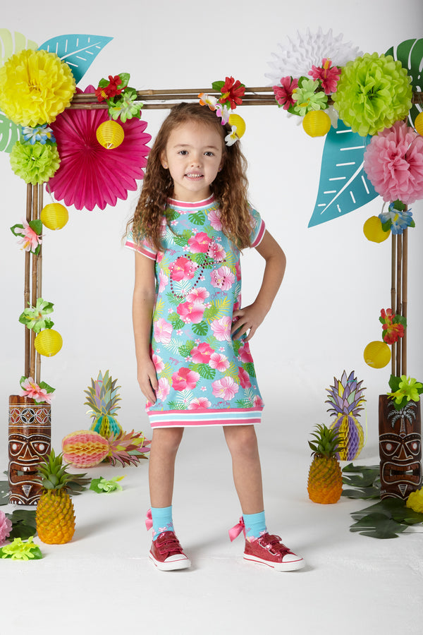 SS20 A Dee Girls Dorothy Hawaiian Print Jumper Dress
