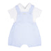 SS21 Blues Baby Baby Boy Blue & White Check Dungaree Set BB0032