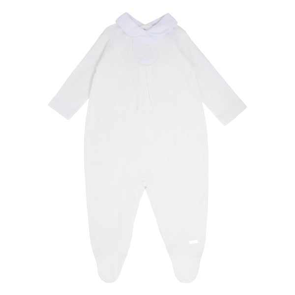 SS21 Blues Baby White Neutral Babygrow BB0037