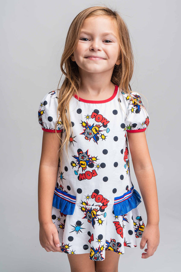 PRE-ORDER SS21 Rosalita Girls Berry Pow Dress