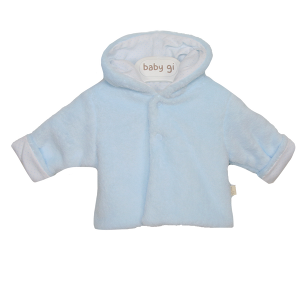 AW20 Baby Gi Baby Boys Blue Hooded Jacket