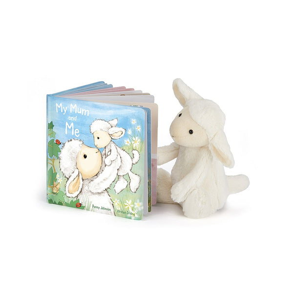 Jellycat My Mum and Me Book & Bashful Lamb Set
