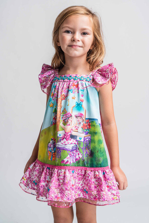 PRE-ORDER SS21 Rosalita Girls Boyd Garden Tea Party Dress