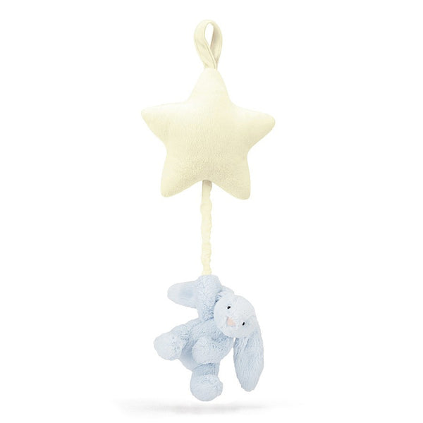 Jellycat Bashful Blue Bunny Star Musical Pull - Liquorice Kids