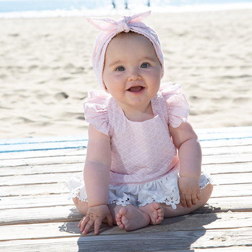 SS20 Rochy Baby Girls Puntilla Pink Romper
