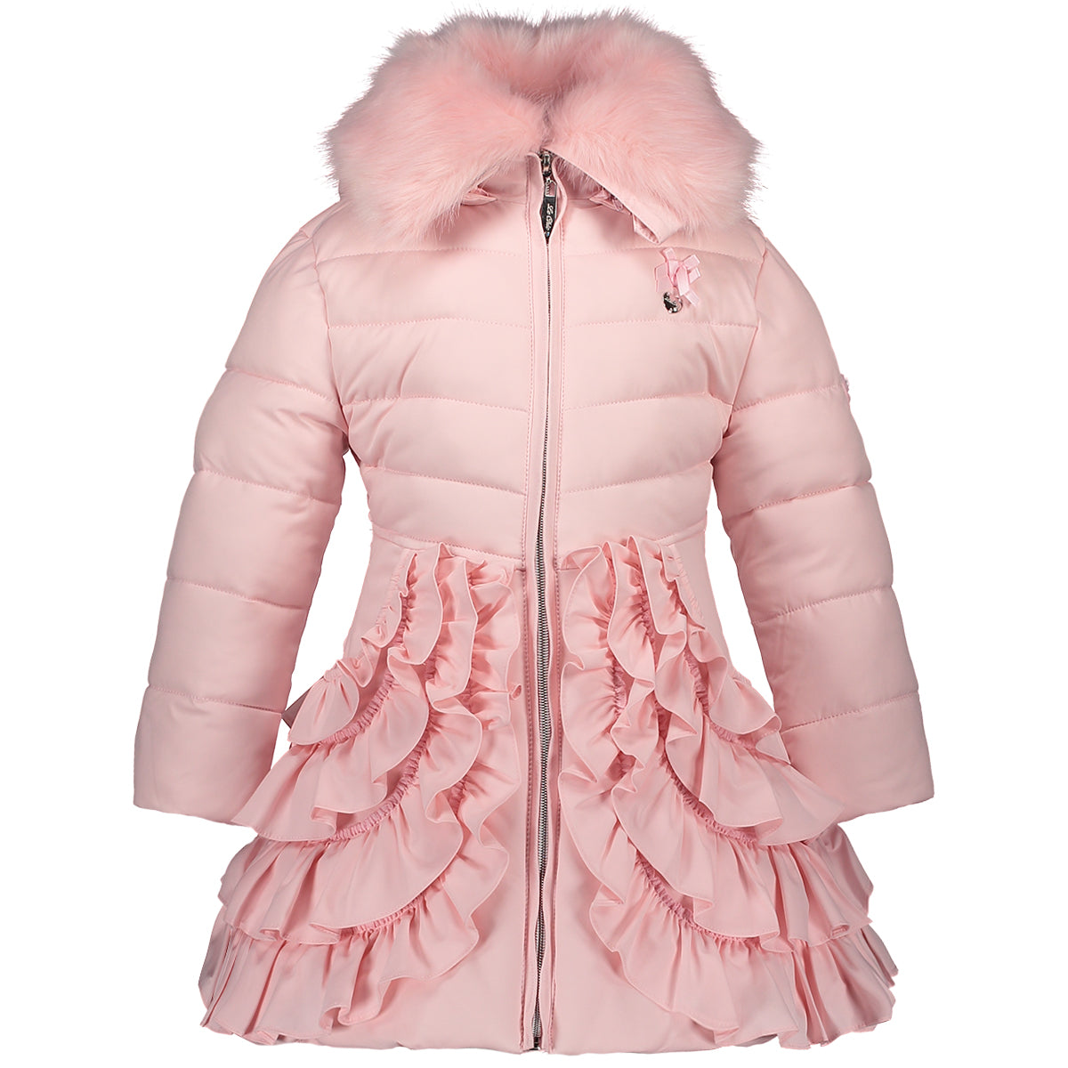 03c37c30d AW18 Le Chic Girls Pink Ruffle Hooded Coat 1-10 Years – Liquorice Kids