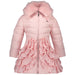 AW18 Le Chic Girls Pink Ruffle Hooded Coat 1-10 Years