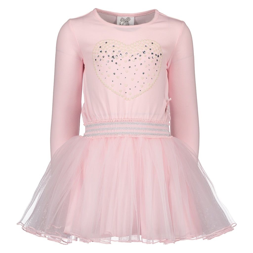 AW18 Le Chic Girls Pink Tulle Skirt Dress