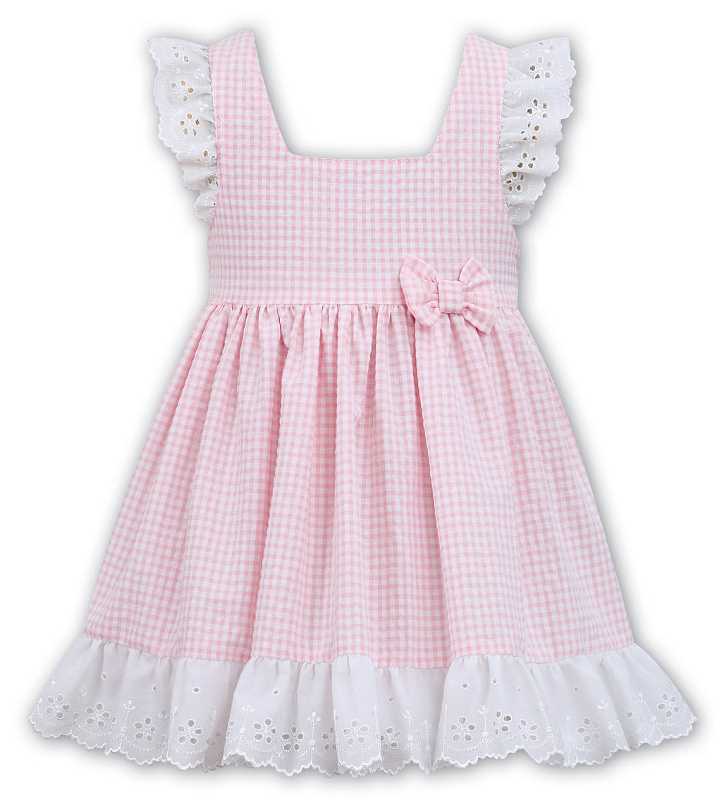 SS19 Dani By Sarah Louise Girls Pink & White Check Dress