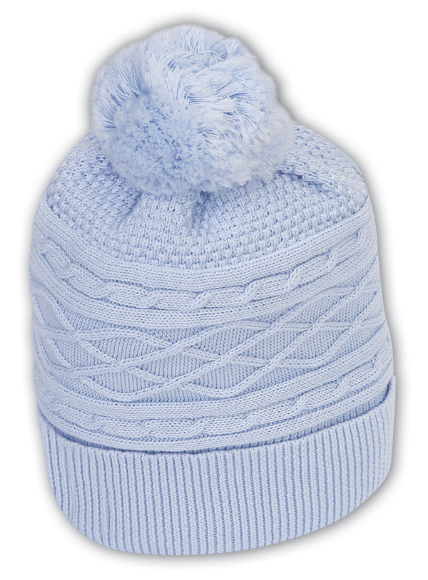 AW19 Sarah Louise Baby Blue Knitted Hat