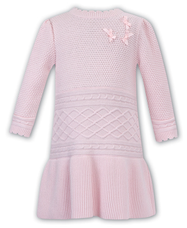 AW19 Sarah Louise Baby Girls Pink Knitted Dress