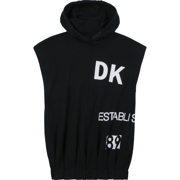 SS21 DKNY Girls Black Hooded Dress