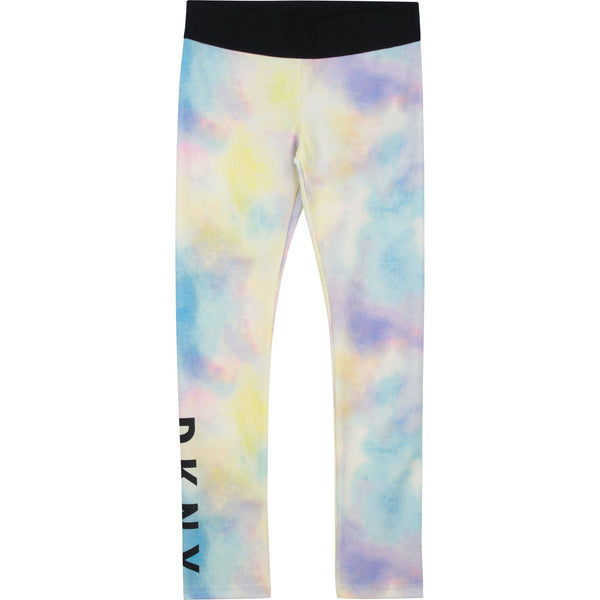 SS21 DKNY Girls Tie Dye Leggings