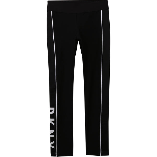 SS21 DKNY Girls Black Logo Leggings