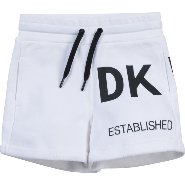 SS21 DKNY Girls White Logo Shorts