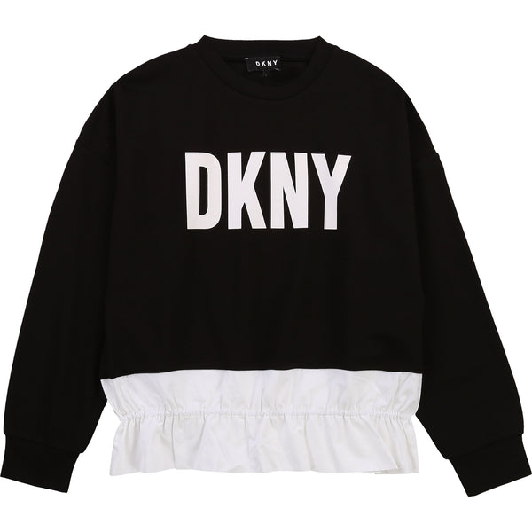 SS21 DKNY Girls Black Fancy Jumper