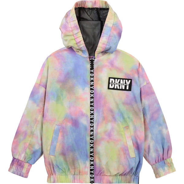 SS21 DKNY Girls Tie Dye Hooded Jacket