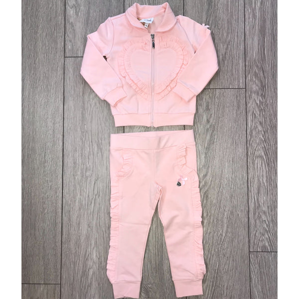 AW18 Le Chic Girls Pink Hearts Tracksuit