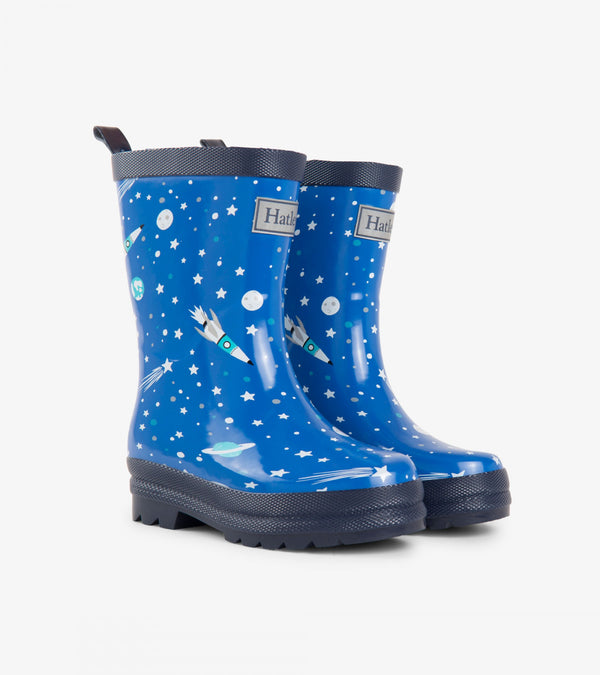 AW18 Hatley Boys Blue Astronaut Wellies