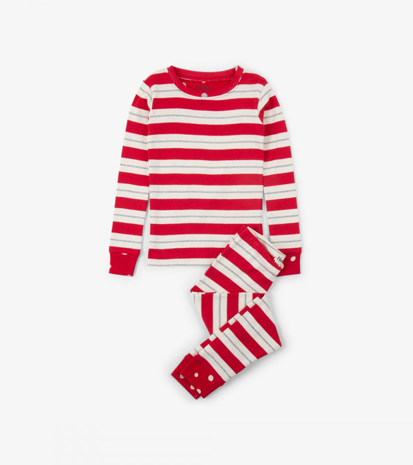 AW18 Hatley Red & Silver Striped Pyjamas