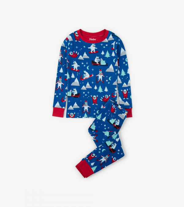 AW18 Hatley Boys Blue Mountain Monsters Pyjamas