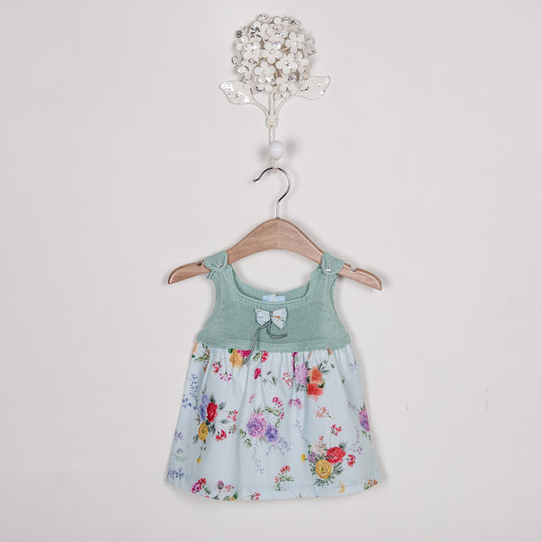 SS18 Floc Baby Girls Green Floral Dress