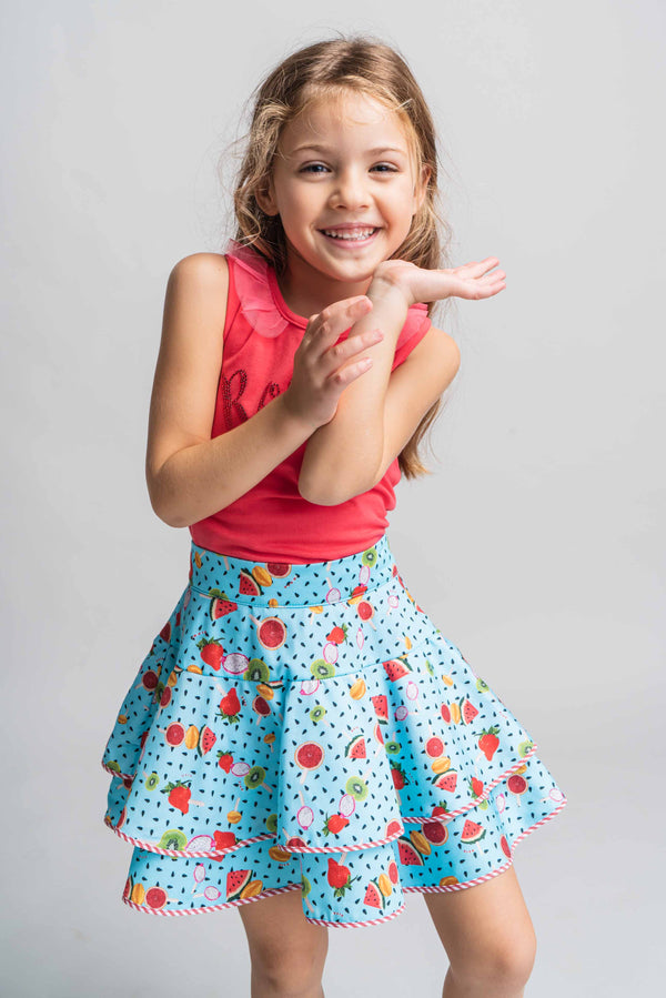 SS21 Rosalita Girls Hay Summer Fruits Skirt Set