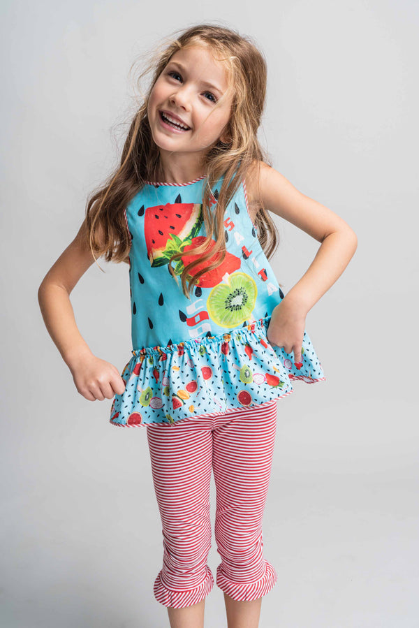 SS21 Rosalita Girls Hay Summer Fruits Leggings Set