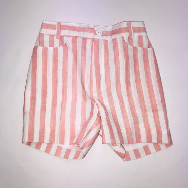 SS19 Cua Cuak Boys Pink & White Candy Stripe Shorts