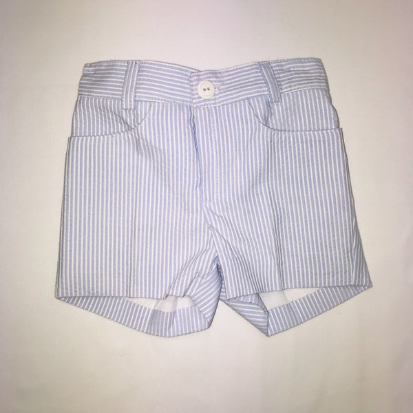 SS19 Cua Cuak Baby Boys Lavender Blue & White Stripe Shorts