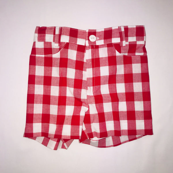 SS19 Cua Cuak Boys Red & White Check Shorts