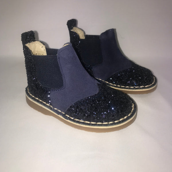 Rochy Navy Glitter Chelsea Boots