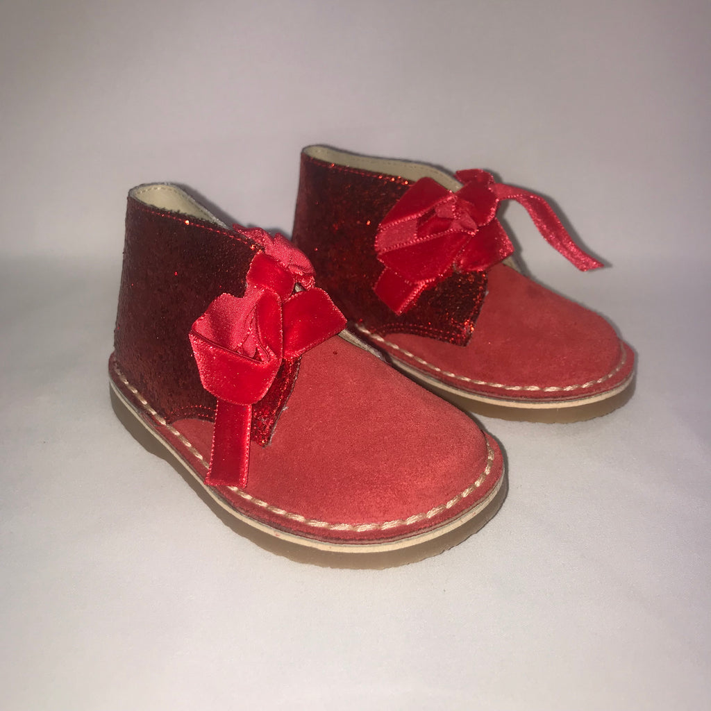 Rochy Red Glitter Boots