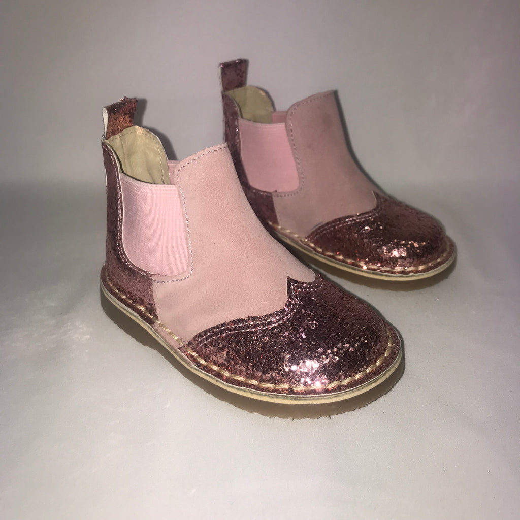 Rochy Pink Glitter Chelsea Boots