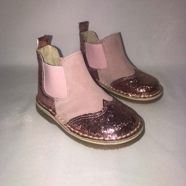 AW19 Rochy Pink Glitter Chelsea Boots