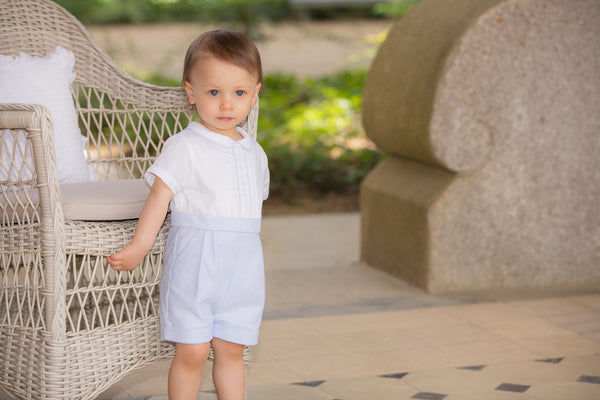 SS19 Patachou Baby Boys Blue & White Romper