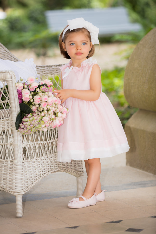SS19 Patachou Girls Pink Chiffon Bow Dress