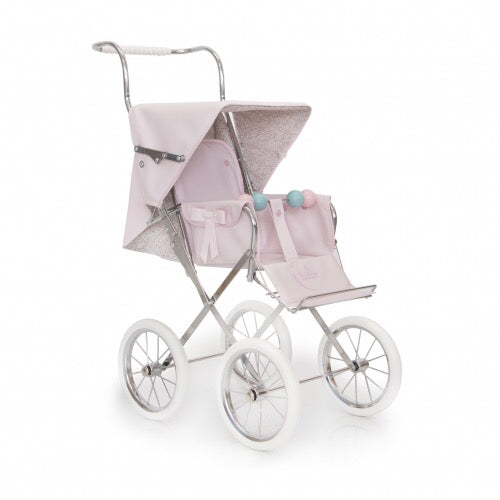 Spanish 'Sweet Big' Doll's Pram In Pale Pink