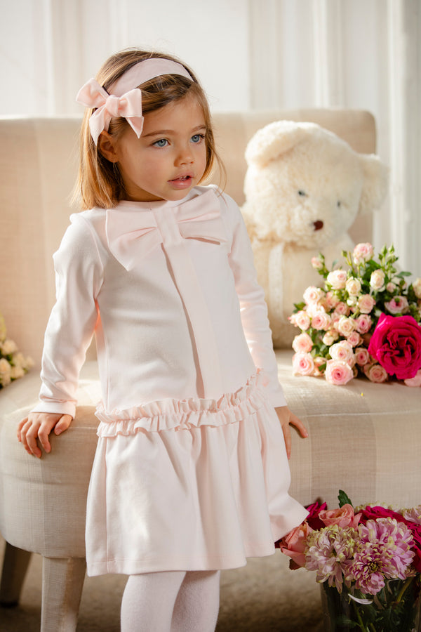 AW19 Patachou Girls Pink Bow Dress