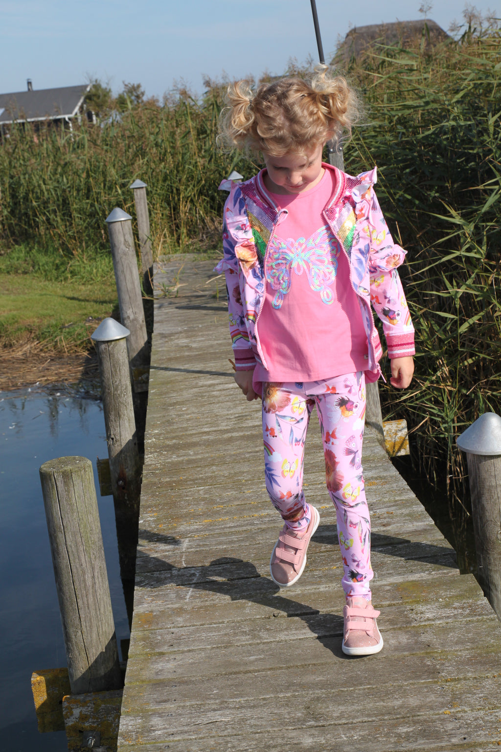 SS21 Happy Calegi Girls Maya Butterfly Leggings Set