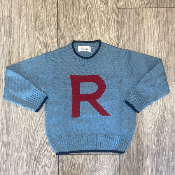 AW20 Rochy Boys Blue Knitted Jumper
