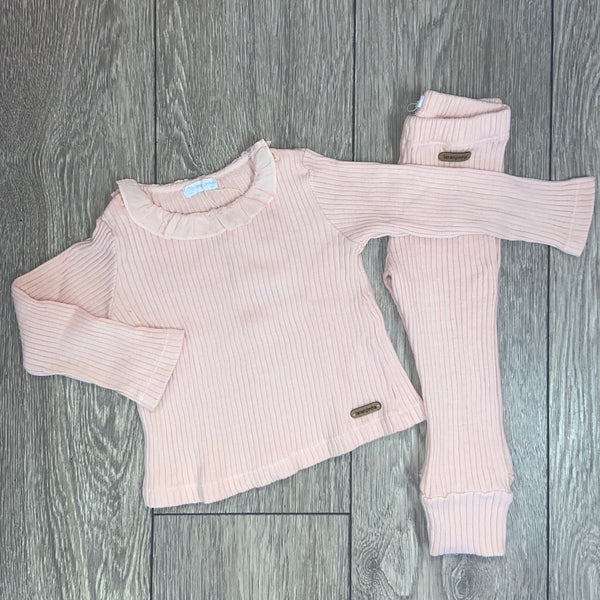 AW20 Laranjinha Baby Girls Pink Knitted Set