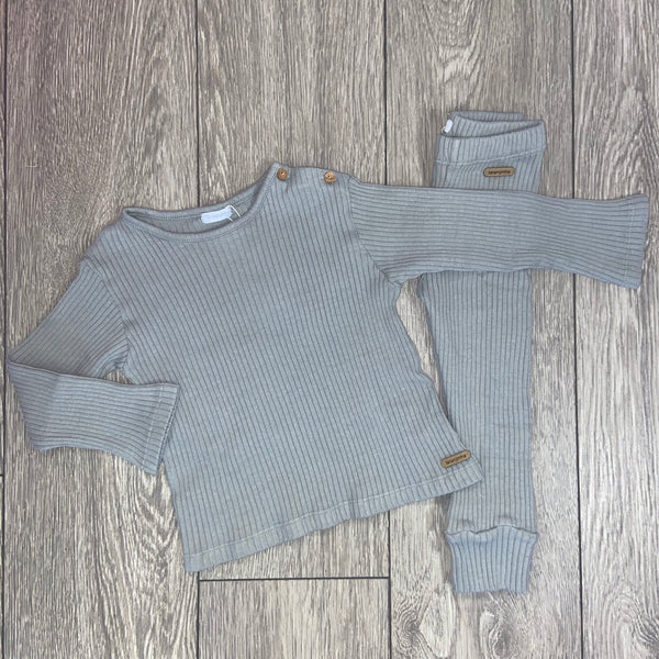 AW20 Laranjinha Baby Boys Grey Knitted Set