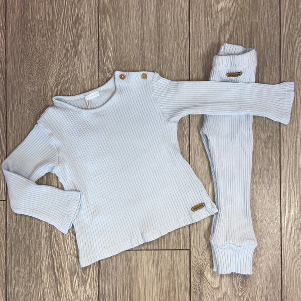 AW20 Laranjinha Baby Boys Blue Knitted Set
