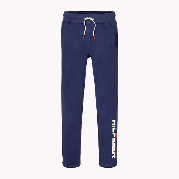 SS18 Tommy Hilfiger Boys Navy Blue Logo Tracksuit Bottoms