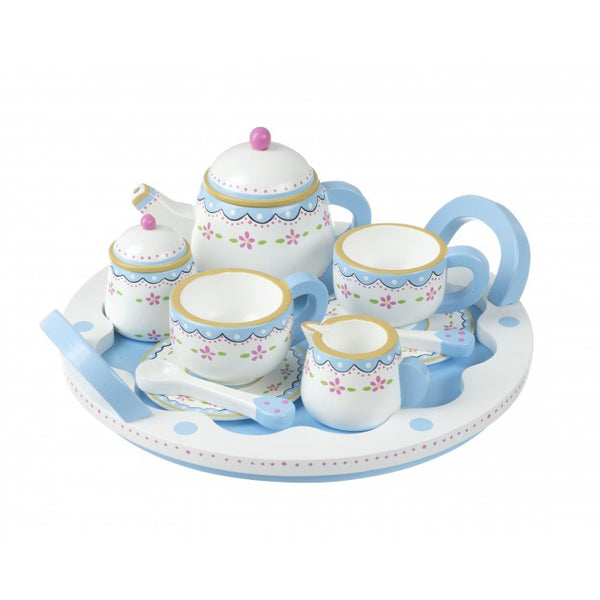 Orange Tree Farm Kitchen Tea Set & Tray