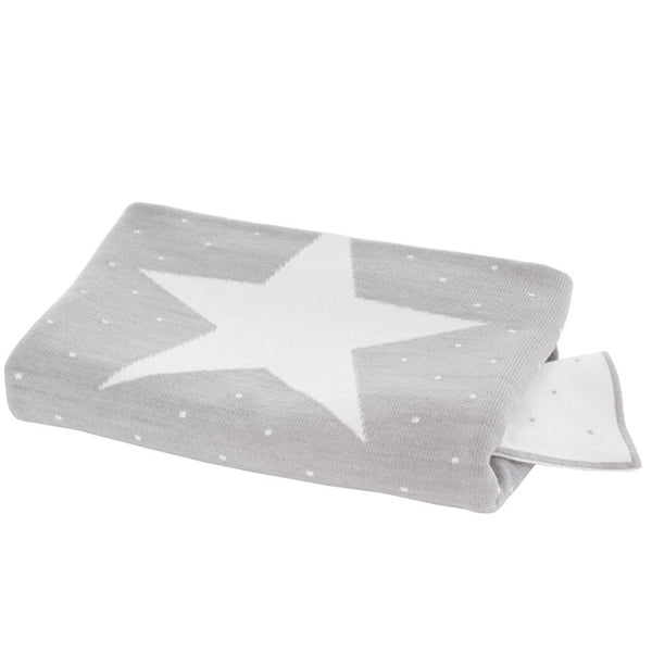 Uzturre Grey Star Blanket