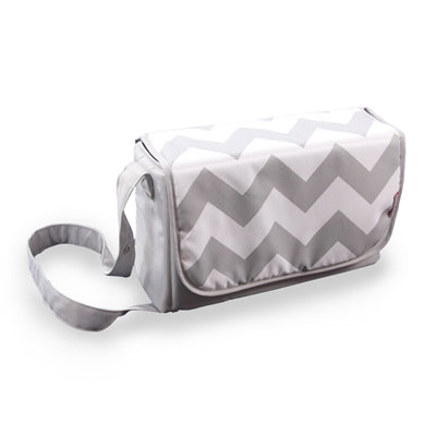 My Babiie Grey Chevron Changing Bag