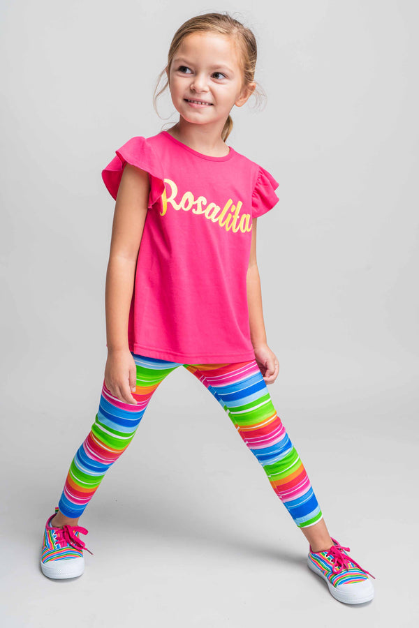 SS21 Rosalita Girls Medway Colour Striped Leggings Set